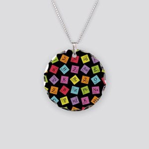 Periodic Elements Necklace Circle Charm