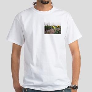 Texas Sunflowers White T-Shirt