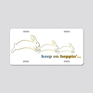 keep on hoppin' Aluminum License Plate