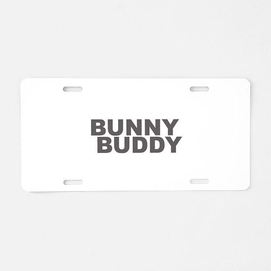 BUNNY BUDDY Aluminum License Plate