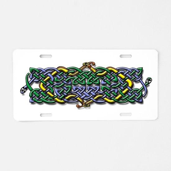 Four Serpants Celtic Knot Aluminum License Plate