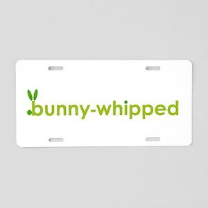 bunny-whipped logo Aluminum License Plate