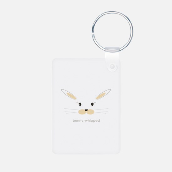 bunny face - straight ears Keychains