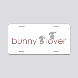bunny lover Aluminum License Plate