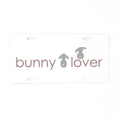bunny lover Aluminum License Plate