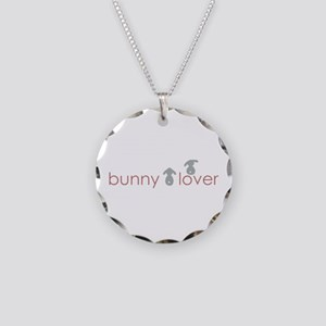 bunny lover Necklace Circle Charm