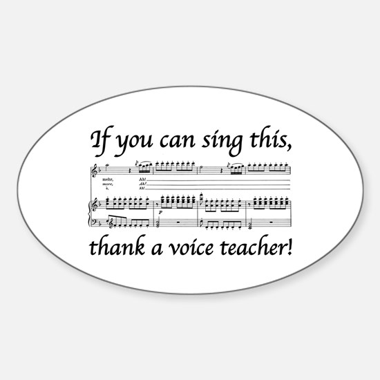 Cute Soprano Sticker (Oval)
