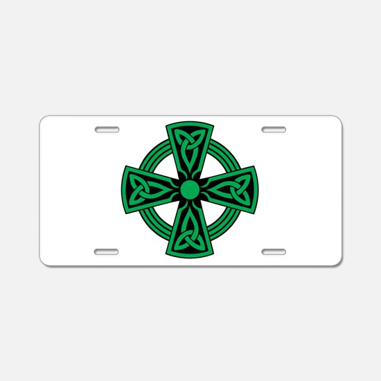 Celtic Cross Aluminum License Plate