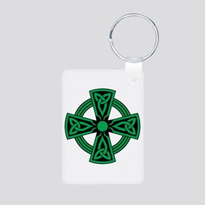 Celtic Cross Aluminum Photo Keychain