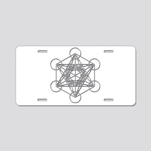 Metatrons Cube Aluminum License Plate