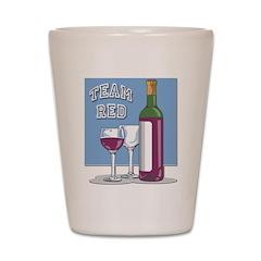 Team Red Wine Shot Glass