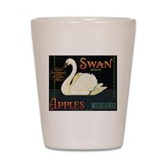 Swan Fruit Crate Label Shot Glass