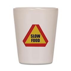 Slow Food Shot Glass
