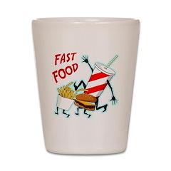 Running Fast Food Shot Glass