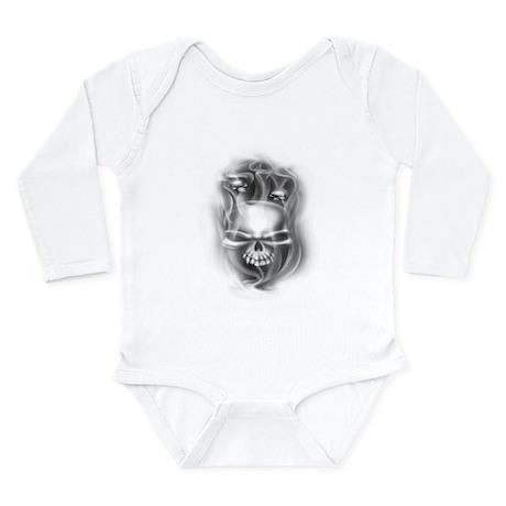 Smokey Skulls Long Sleeve Infant Bodysuit