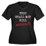 Thou Shall Kill Women's Plus Size V-Neck Dark T-Sh