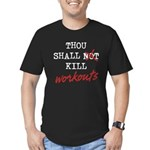 Thou Shall Kill Men's Fitted T-Shirt (dark)