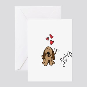 Loveable Hound Greeting Card