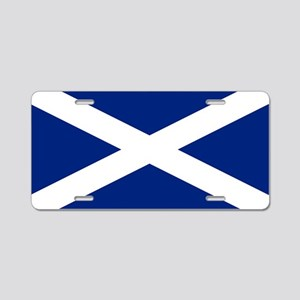 Scottish Flag Saltire Aluminum License Plate