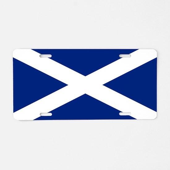 Scottish Flag Saltire Aluminum License Plate