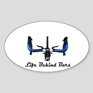 Life Behind Bars Sticker (Oval)