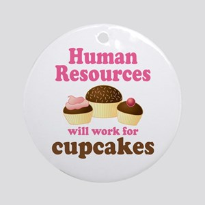 Funny Human Resources Ornament (Round)