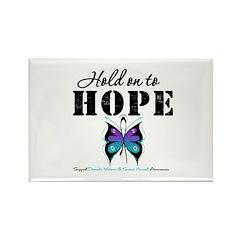 Purple & Teal Hope Rectangle Magnet (100 pack)