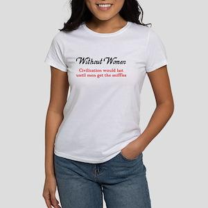 Without Women Civilization Wo Women's T-Shirt