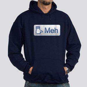 The Facebook MEH button Hoodie (dark)