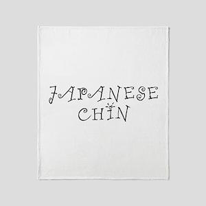 Japanese Chin Throw Blanket