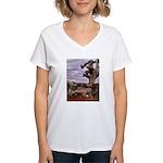 Saguaro Zombies Zombie 1 Women's V-Neck T-Shirt
