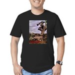 Saguaro Zombies Zombie 1 Men's Fitted T-Shirt (dar