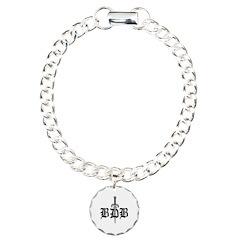 Bdb Dagger Logo White Bracelet
