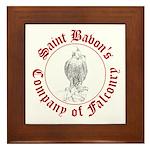 SCA falconry logo Framed Tile
