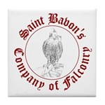 SCA falconry logo Tile Coaster