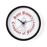 SCA falconry logo Wall Clock