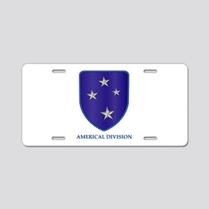 Americal Division Aluminum License Plate