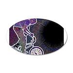 WillieBMX The Glowing Edge 22x14 Oval Wall Peel