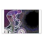 WillieBMX The Glowing Edge Sticker (Rectangle 50 p