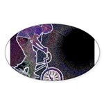 WillieBMX The Glowing Edge Sticker (Oval 50 pk)
