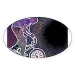 WillieBMX The Glowing Edge Sticker (Oval)