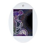 WillieBMX The Glowing Edge Ornament (Oval)