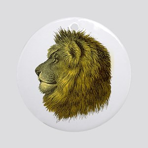 Lion Ornament (Round)