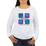 Hope Inspire Tiles Women's Long Sleeve T-Shirt