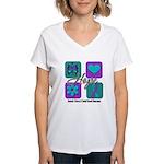 Hope Inspire Tiles Women's V-Neck T-Shirt