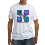 Hope Inspire Tiles Fitted T-Shirt