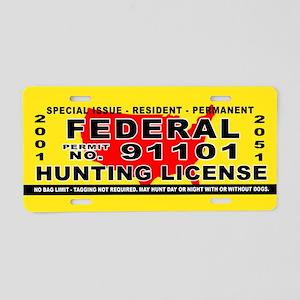 Terrorist Hunting Permit Aluminum License Plate