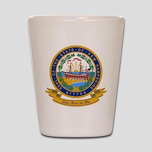 New Hampshire Seal Shot Glass