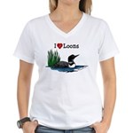 White Lake ON Women's V-Neck T-Shirt