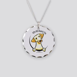 Yellow Lab IAAM Necklace Circle Charm
